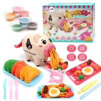 Deardeer Play Dough Sets Playdough Playsets Noodle Machine Fun Kitchen Toy for Kids Children - 21pcs