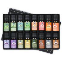 Lagunamoon Essential Oils Gift Set of 16 Pure Essential Oils Gift Set for Diffuser, Humidifier, Massage, Aromatherapy, Skin & Hair Care