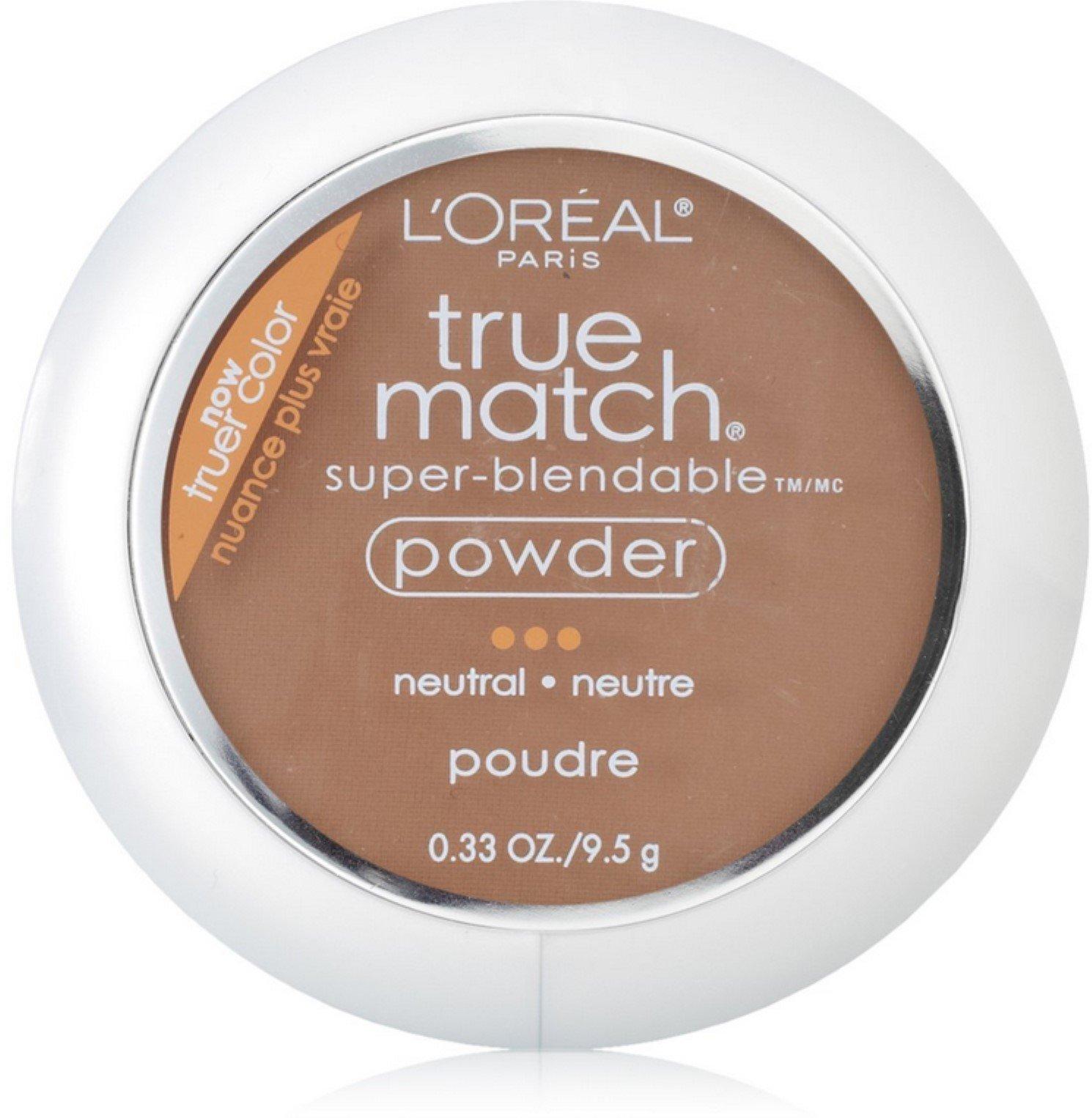 L'Oreal True Match Powder, Cappuccino [N8], 0.33 oz (Pack of 2)