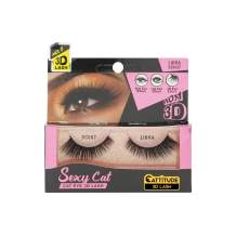 CATTITUDE 3D LASHES Libra Sexy Cat False Eyelashes, Lightweight & Reusable, Cruelty-Free