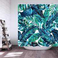 Diamerd Cactus Tropical Green Shower Curtains for Bathroom - Waterproof Fabric No Fading Polyester Stall Shower Curtain 72 × 72 Inch with 12 Hooks (A)