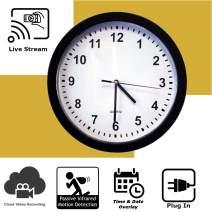 Discover IT | Wi-Fi Hidden Camera Spy Cam Home Surveillance Nanny Cam Wall Clock with Cloud Video Recording