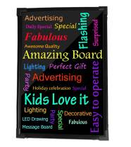 Sensory Acrylic LED Message Writing Board Illuminated Light Dry Erase Board Kids Drawing Painting Board Doodle Graphics Tablets Boys Girls Birthday Christmas Gift