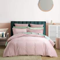 PHF Velvet Duvet Cover Set Queen Size Soft Cozy Comfortable Home Decoration Luxurious Bedding Set Solid 3 Pieces Pink Mocha