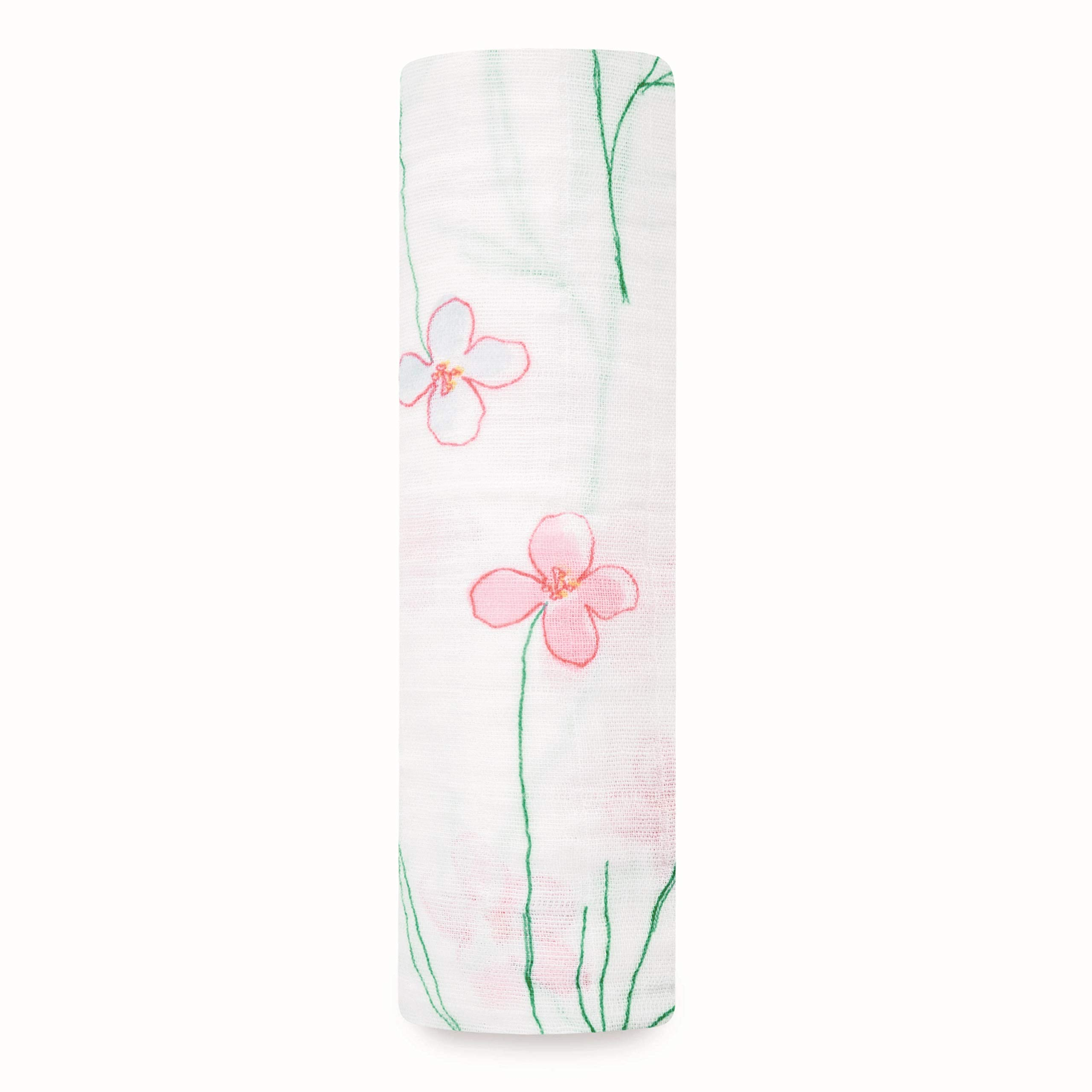aden + anais Swaddle Blanket, Boutique Muslin Blankets for Girls & Boys, Baby Receiving Swaddles, Ideal Newborn & Infant Swaddling Set, Perfect Shower Gifts, Single, Forest Fantasy