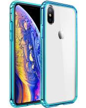 Mkeke Compatible with iPhone Xs Case,iPhone X Case,Clear Anti-Scratch Shock Absorption Cover Case iPhone Xs/X Green