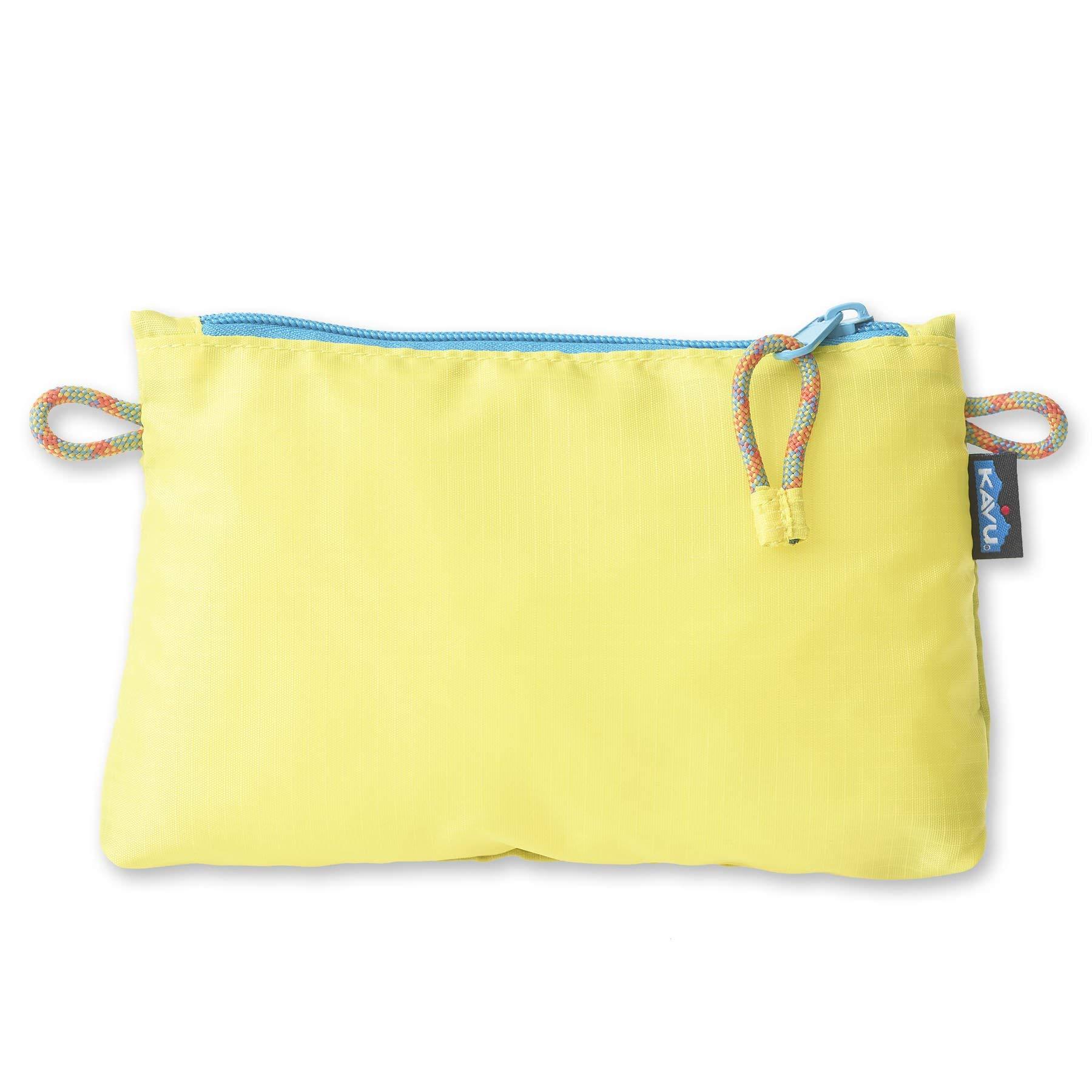 KAVU Ragged Ridge Zip Accessory Pouch Water Resistant Travel Bag - Banana Split