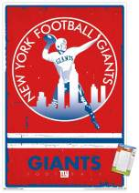 "Trends International Poster Clip NFL New York Giants - Retro Logo, 22.375"" x 34"", Poster & Clip Bundle"