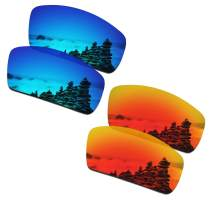 SmartVLT Men's Ice Blue&Fire Red Replacement Lenses for Oakley Canteen 2006 Sunglass