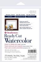 "Strathmore 140-205 Ready Cut Watercolor, Cold Press, 5"" x 7"", White, 25 Sheets,Multicolor"