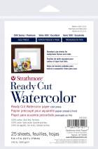 "Strathmore 140-205 Ready Cut Watercolor, Cold Press, 5"" x 7"", White, 25 Sheets,Multicolor"