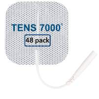 """TENS 7000 Official TENS Unit Replacement Pads - 48 Pack, Premium Quality OTC TENS Unit Pads, 2"""" X 2"""" - Compatible with Most TENS Machines, Replacement Electrodes Value Pack"""