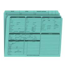 Real Estate Listing Folder – Right Panel List, Pre-Printed on Durable Card Stock with Closing Checklist and Color-Coded Dots for Organizing (Blue, Letter Size | Pack of 25)
