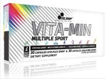 Sports Nutrition - Chelated Calcium Magnesium Zinc Copper - Sports Multivitamin - Vitamins Nutrition - Gym Multivitamin - Athlete Multivitamin - Olimp Vita-Min Multiple Sport Mega Caps - 60 Capsules