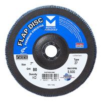 "Mercer Industries 263080 Zirconia Flap Disc, High Density, Type 27, 7"" x 7/8"", Grit 80, 10 Pack"