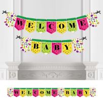 Big Dot of Happiness Tutti Fruity - Party Decorations Frutti Summer Baby Shower Bunting Banner - Summer Party Decorations - Welcome Baby