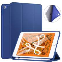 """Ztotop Case for iPad Mini 5 2019 with Pencil Holder, Lightweight Soft TPU Back and Trifold Stand Smart Cover with Auto Sleep/Wake,Protective for iPad Mini 5th Generation 7.9"""" 2019 Release,Navy Blue"""