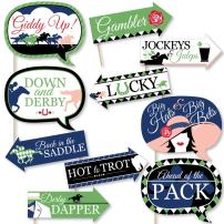 Funny Kentucky Horse Derby - Horse Race Party Photo Booth Props Kit - 10 Piece