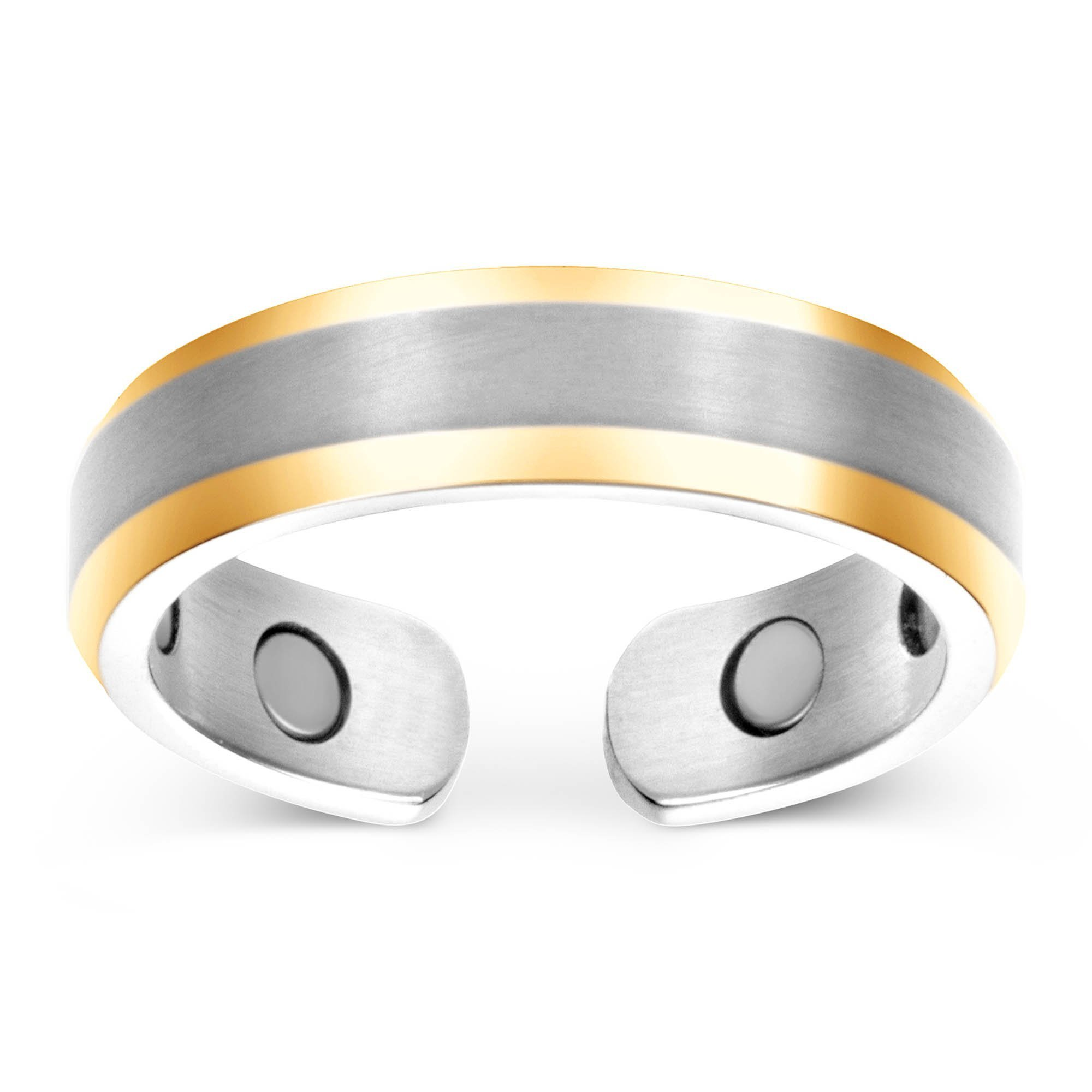 Elegant Titanium Magnetic Therapy Ring Pain Relief for Arthritis and Carpal Tunnel