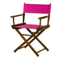 "Casual Home 200-55/021-30 18"" Honey Oak Frame-Magenta Canvas Director Chair Classic Height, OakFrame"