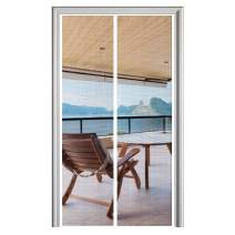 "YUFER Magnet Screen Door 34 x 82, Magnetic Mesh Screen Door with Heavy Duty Fits Door Size up to 34""x82"" Max-White"