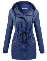 UNibelle Spring Jacket for Women Lightweight Hooded Raincoat Outdoor Active Windbreaker Waterproof Trench Coats S-XXL