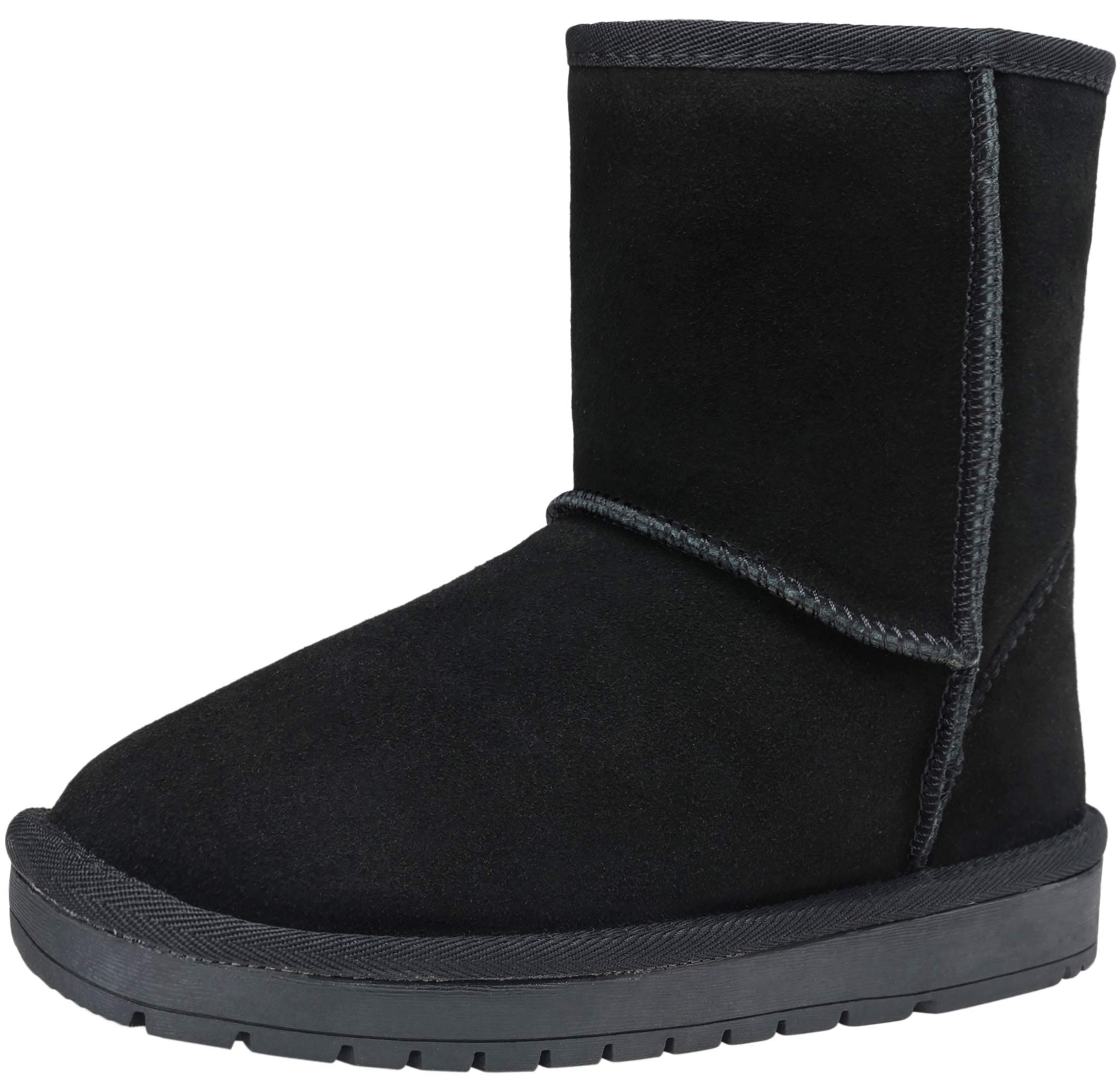 VEPOSE Women's Suede Leather Snow Boots Mid Calf Classic Knee High Warm Winter Booties