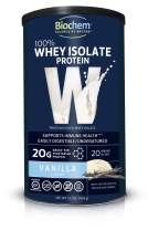 Biochem 100% Whey Isolate Protein - Vanilla - 15.1 oz - 20g of Protein - Meal Replacement -Supports Lean Muscle - Easily Digestible - Silky Smooth Taste - Amino Acids