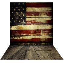 Allenjoy 5x7ft Vinyl 4th of July Backdrop for Photography American Flag Wooden Floor Wall Veterans Day Decor Patriotic Party Independence Day Banner Photo Studio Booth Portrait Background Photocall