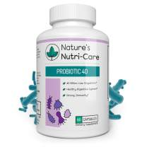 Nature's Nutri-Care Probiotic Supplement - 40 Billion CFUs – 3X Higher Potency - MAKTREK Bi-Pass – Stronger Digestive and Immune Health - Capsule Count 60
