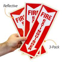 """SmartSign""""Fire Extinguisher"""" Label with Downward Arrow 