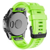 ANCOOL Compatible with Fenix 5S Plus Bands 20mm Width Easy Fit Soft Silicone Watch Bands Replacement for Fenix 6S/Fenix 6S Pro/Fenix 5S Smartwatches, Green