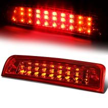 Red Housing Dual Row LED 3rd Third Tail Brake Light Reverse Lamp Replacement for Ram 1500 2500 3500 DS/DJ 09-10