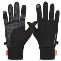 Yobenki Running Gloves, Winter Gloves Lightweight Touch Screen Gloves Women Men