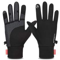 Yobenki Running Gloves, Winter Gloves Lightweight Touch Screen Gloves Women Men