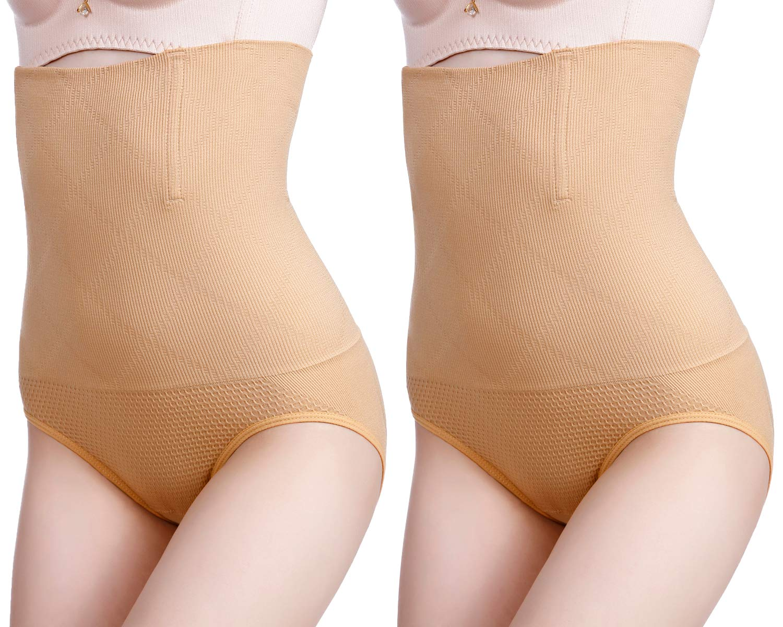 Abollria 2 Pcs Set Women's Shapewear Control Panties High Waist Trainer Tummy Control Panty Slimming Waist Trainer