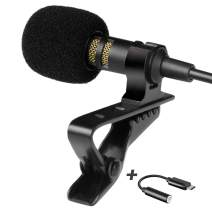 Android Type-C Microphone - Lavalier Mic Type C for Android - Phone Microphone Android with Type-C Adapter - Type C Microphone for Interview, Vlogging, Podcasting