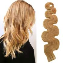 """20"""" Long Strawberry Blonde Curly Tape in Hair Extensions 50grams 20pcs Skin Weft Body Wave Tape in Extensions Remy Human Hair"""