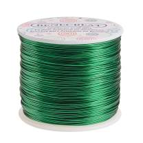BENECREAT 12 17 18 Gauge Aluminum Wire (18 Gauge,492 FT) Anodized Jewelry Craft Making Beading Floral Colored Aluminum Craft Wire - Green