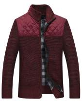 Vcansion Men's Casual Slim Full Zip Thick Knitted Cardigan Sweaters