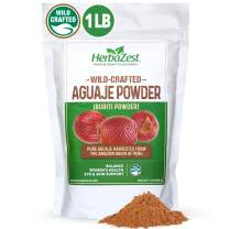 Aguaje Powder Superfood for Women - 16 Ounce (1 Full LB) - Wild Crafted & 100% Pure - Vegan & Gluten Free - Perfect for Smoothies & Juices, Baked & Non-Baked Goods, Yogurt & Cereal, Ice Cream & More