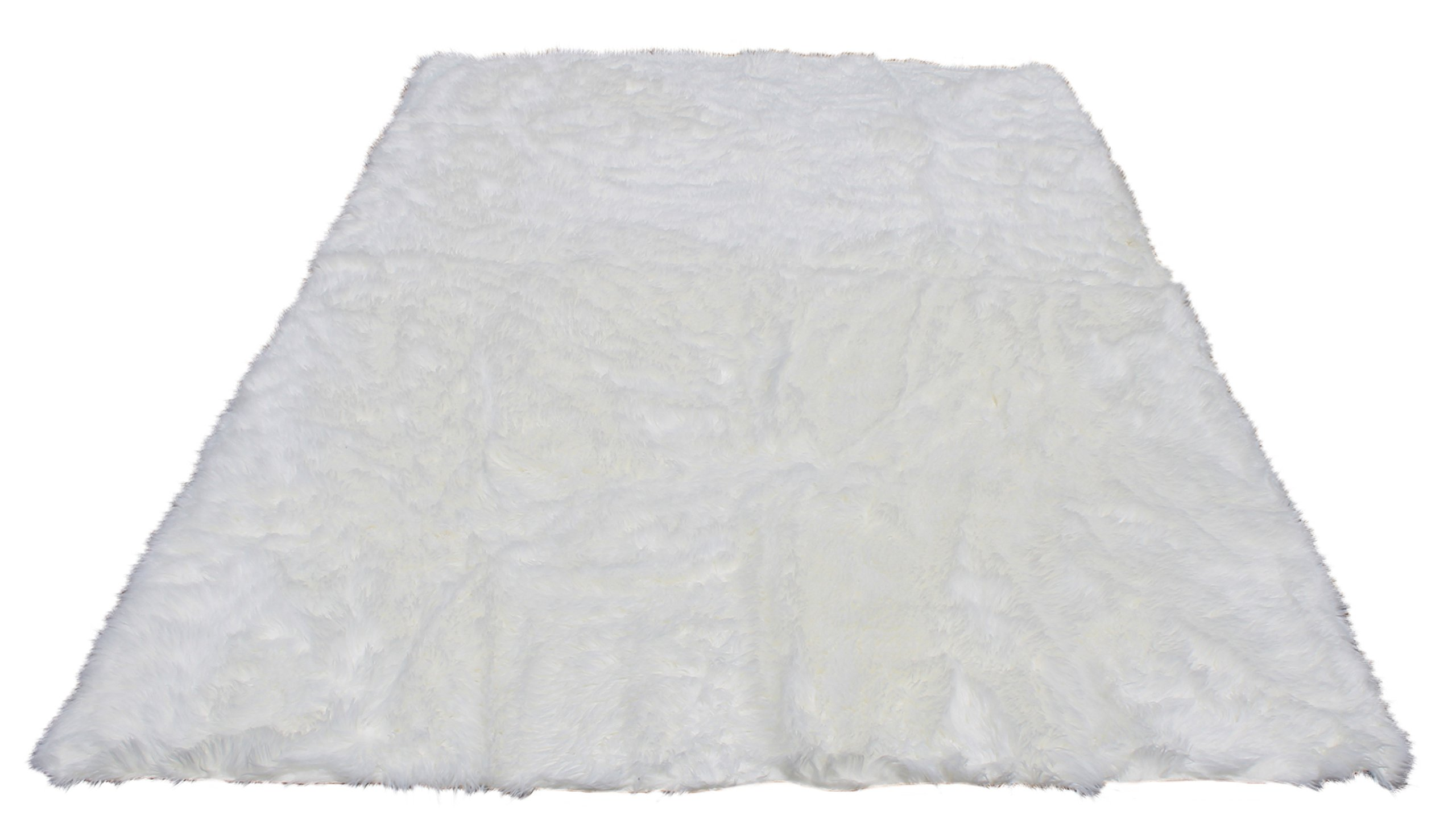 Silky Super Soft White Faux Sheepskin Shag Area Rug Machine Washable - Great for Photography or Bedroom Decor- Get The Real Look Without Harming Animals (6 feet x 9 feet Rectangle)
