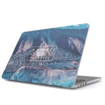 Glitbit Hard Case Cover Compatible with MacBook Air 13 inch Case Release 2018-2019, Model: A1932 with Retina Display and Touch ID Hawaii Welcome to Paradise Tropical Landscape Nature Summer