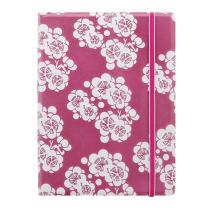 """FILOFAX Refillable Impressions Notebook, A5 (8.25"""" x 5"""") Pink and White - 112 Cream moveable pages - Index, pocket and page marker (B115040U)"""