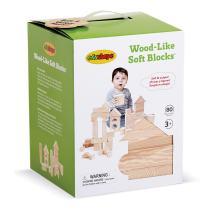 Edushape Wood Like Soft Blocks, 80 Piece