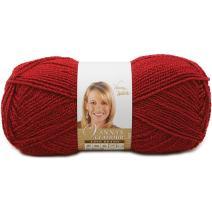 Lion Brand Yarn 861-114 Vanna's Glamour, Red Stone Yarn, 202 yd/185 m
