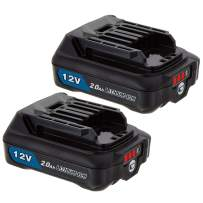 2-Pack12V 2.0Ah Lithium-Ion Compact Battery for Makita BL1041B, BL1021B, BL1040B, BL1015B, BL1016B, BL1020B