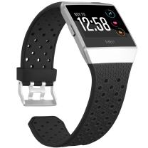 SKYLET Comaptible with Fitbit Ionic Band Soft Breathable Accessories Wristbands Compatible with Fitbit Ionic Bracelet with Buckle (No Tracker)