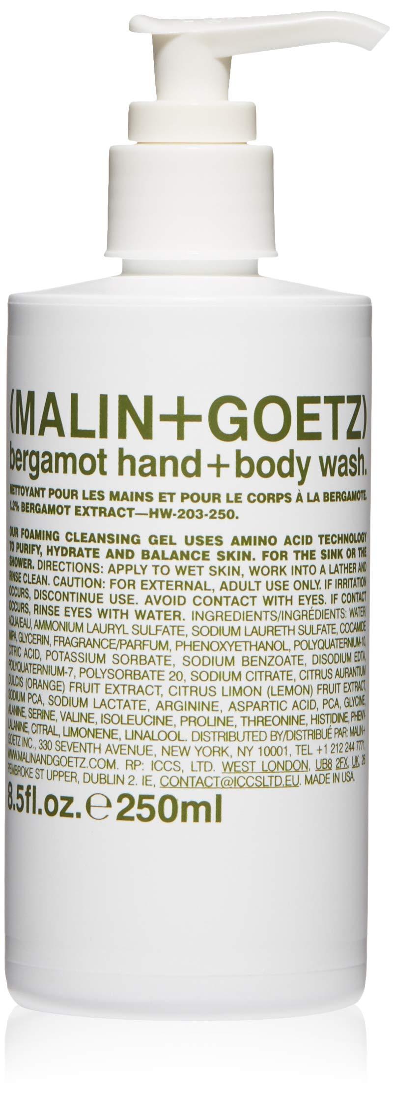 Malin + Goetz Bergamot Hand+Body Wash, 8.5 Fl Oz