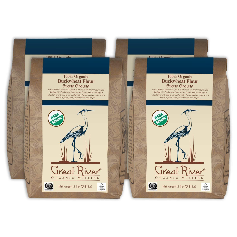 Great River Organic Milling Organic Buckwheat Flour, 2 Pound, 4 Count